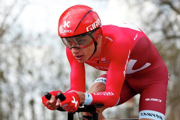 Словенский велогонщик Симон Шпилак из команды Katusha-Alpecin