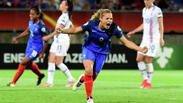 Нападающий женской сборной Франции по футболу Эжени Ле Сомме