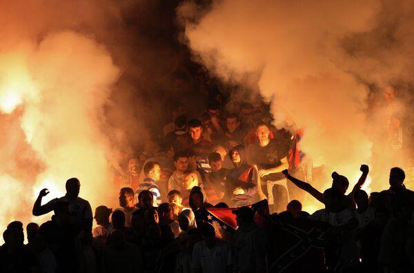 Болельщики хорватского футбольного клуба Хайдук