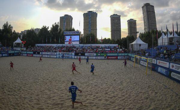 Игровой момент матча Россия - Греция
