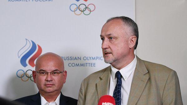 Александр Ивлев (слева) и новый генеральный директор РУСАДА Юрий Ганус