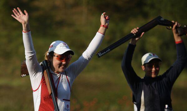 Юлия Савельева и Мария Лучия Пальмитесса (слева направо)