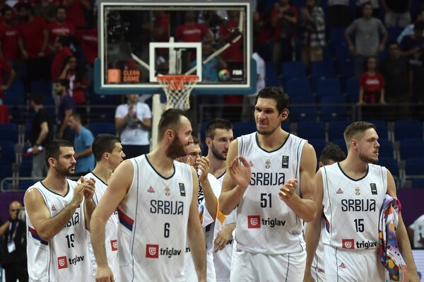 Баскетболисты сборной Сербии