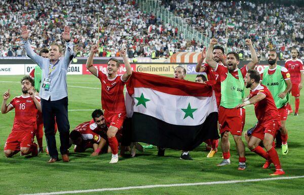Футболисты сборной Сирии