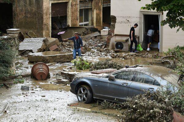 Последствия урагана в Ливорно