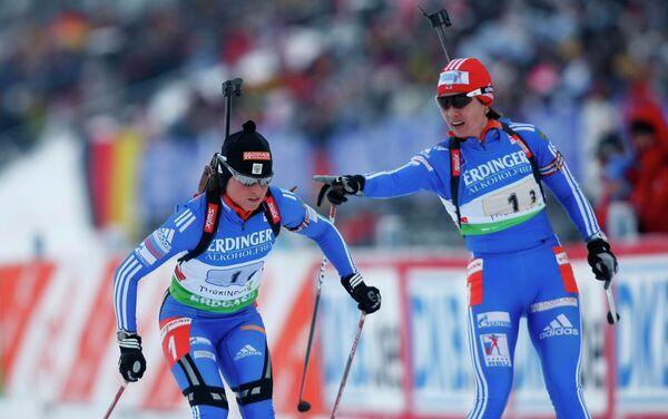 Светлана Слепцова и Ольга Медведцева (слева направо)