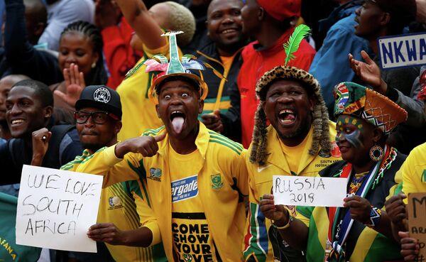 Болельщики сборной Южной Африки