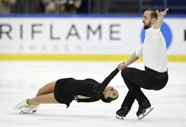Ксения Столбова и Федор Климов на турнире Finlandia Trophy