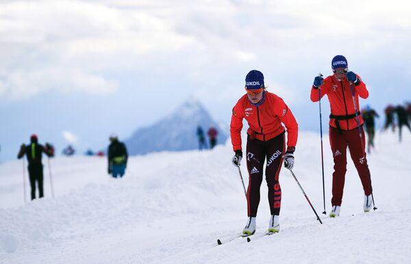 Российские лыжницы