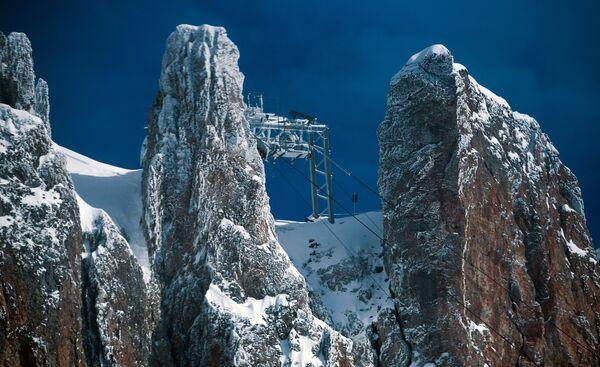 Станция канатной дороги на леднике Дахштайн в Австрии