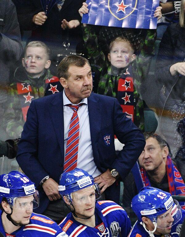 Главный тренер ХК СКА Олег Знарок