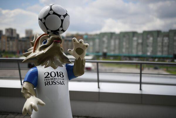 Фигура официального талисмана чемпионата мира по футболу 2018 года волка Забиваки