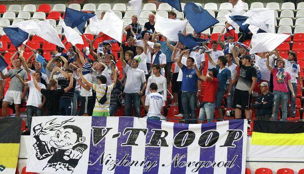 Болельщики футбольного клуба Волга