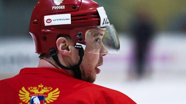 Нападающий сборной России по хоккею Сергей Мозякин