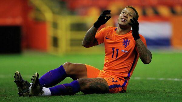 Нападающий французского Лиона и сборной Нидерландов по футболу Мемфис Депай