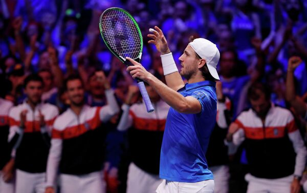 Французский теннисист Люка Пуй
