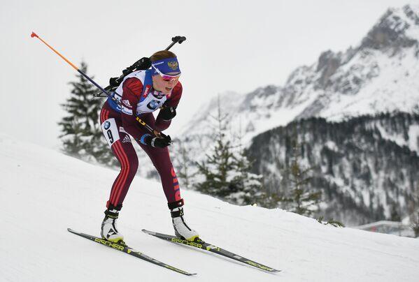 Биатлонистка сборной России Виктория Сливко