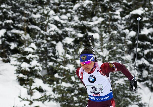 Биатлонистка сборной России Татьяна Акимова