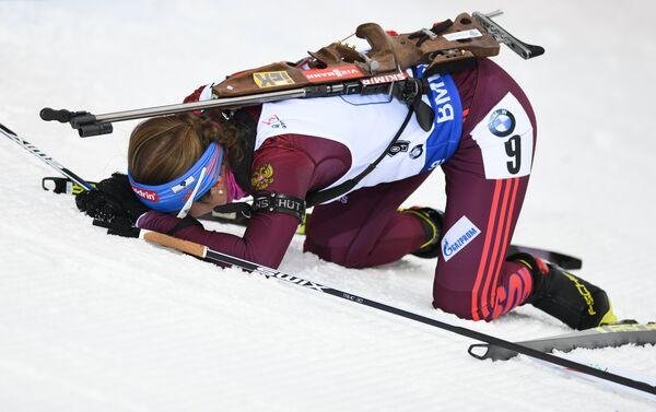 Биатлонистка сборной России Екатерина Юрлова-Перхт