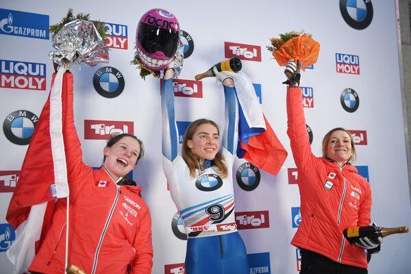 Жаклин Леллинг, Елена Никитина и Янин Флок (слева направо)