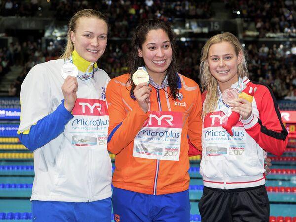 Шведка Сара Шёстрём, голландка Раноми Кромовидьойо и датчанка Пернилла Блуме (слева направо)