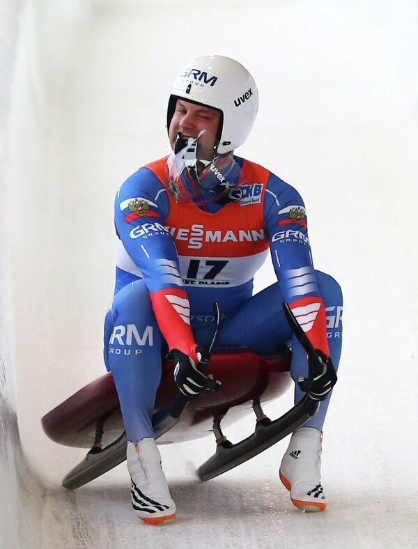 Российский саночник Семен Павличенко
