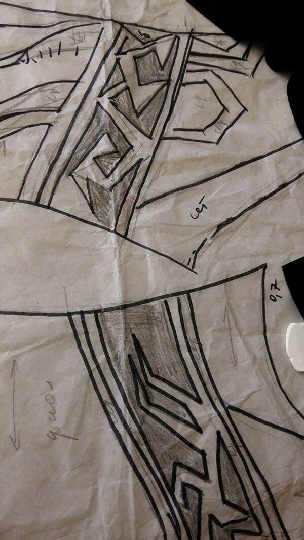 Эскизы костюмов российских синхронисток
