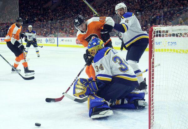 Игровой момент матча НХЛ Филадельфия - Сент-Луис