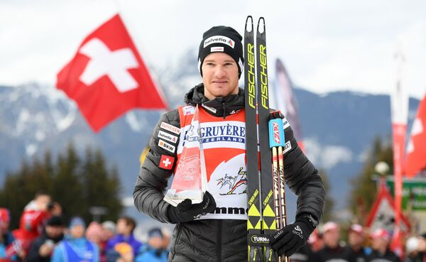 Швейцарский лыжник Дарио Колонья