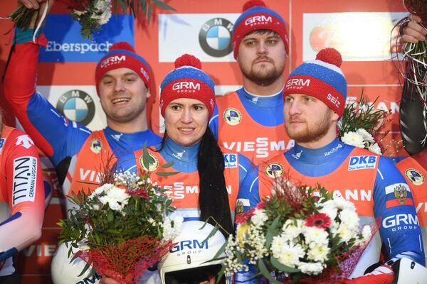 Семен Павличенко, Татьяна Иванова, Александр Денисьев и Владислав Антонов (слева направо)