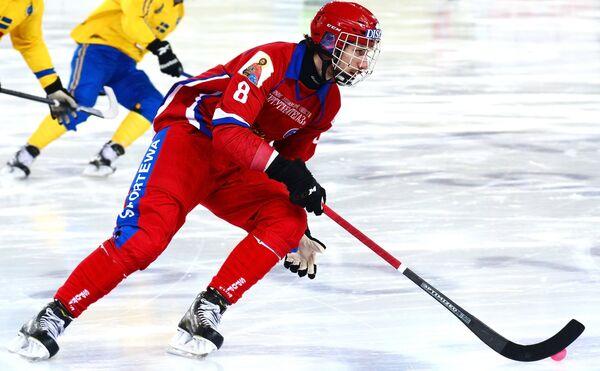 Игрок сборной России Максим Ишкельдин