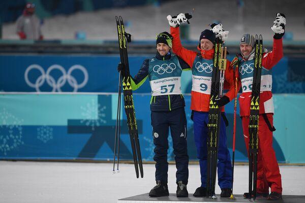 Яков Фак, Йоханнес Бё и Доминик Ландертингер (слева направо)