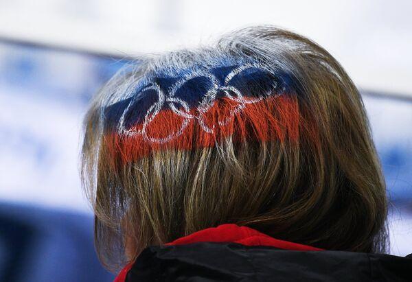 Болельщица сборной России по хоккею