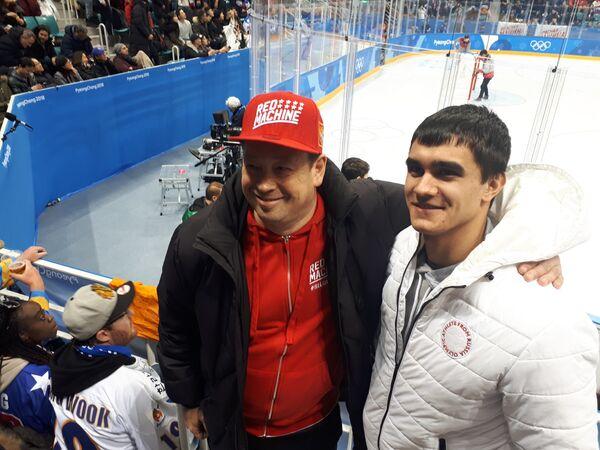 Леонид Слуцкий и Никита Трегубов (справа)