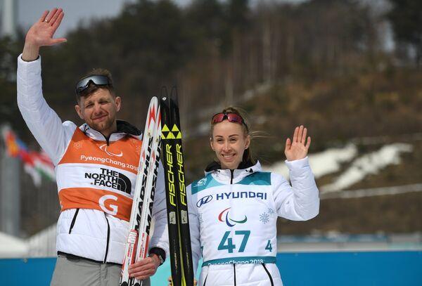 Михалина Лысова со своим ведущим Алексеем Ивановым