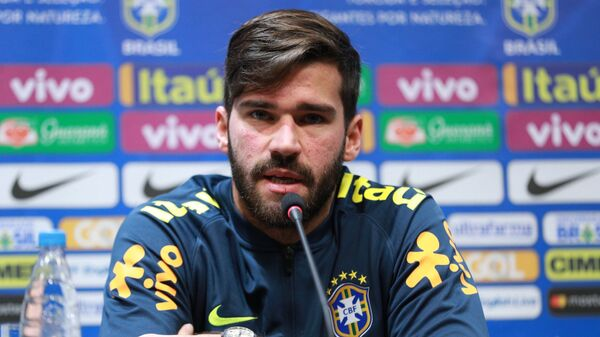 Вратарь сборной Бразилии Алиссон