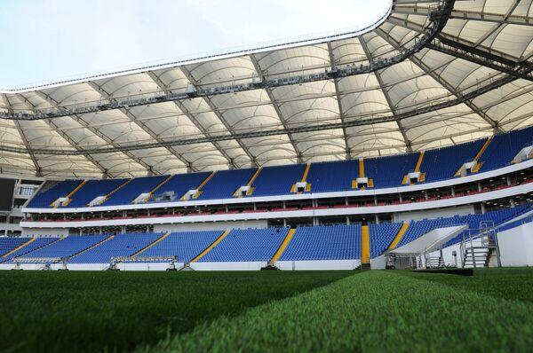 Строящийся футбольный стадион Ростов Арена