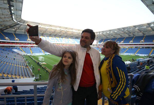 Болельщики на стадионе Ростов Арена