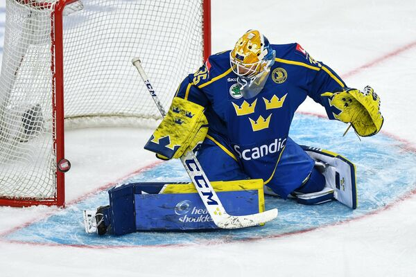 Вратарь сборной Швеции Магнус Хелльберг