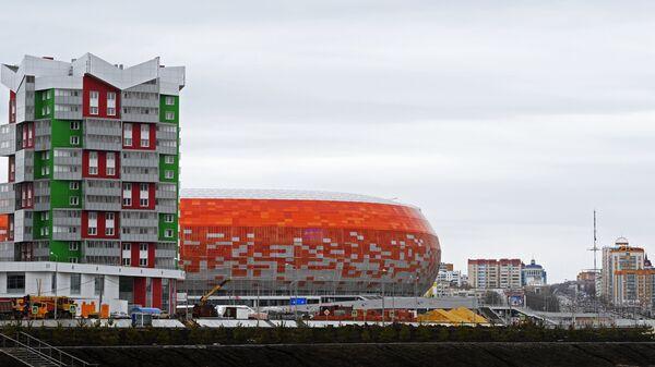 Стадион Мордовия Арена в Саранске, где пройдут матчи чемпионата мира по футболу