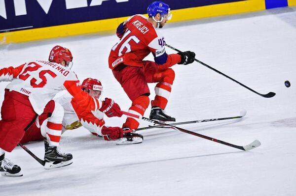 Форвард сборной Чехии Давид Крейчи (справа)