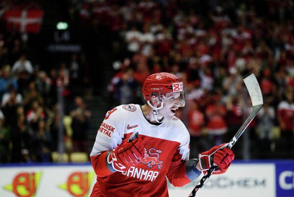 Нападающий сборной Дании по хоккею Фредерик Сторм