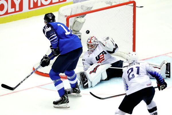 Матч чемпионата мира по хоккею 2018 между сборными Финляндии и США