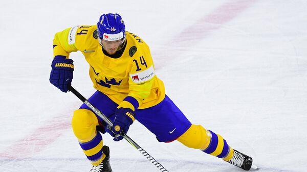 Нападающий сборной Швеции Густав Нюквист