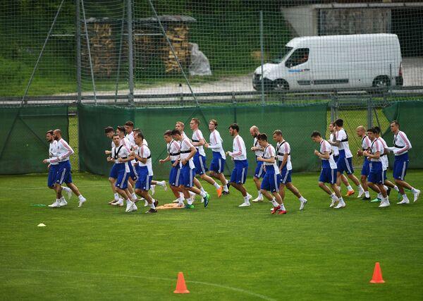 Футбол. Учебно-тренировочный сбор национальной команды