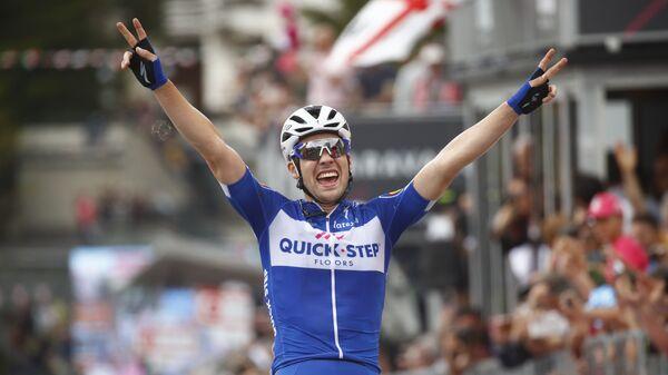 Немецкий велогонщик Максимилиан Шахман из команды Quick-Step Floors