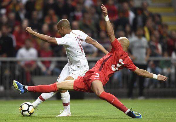 Игровой момент товарищеского матча Португалия - Тунис