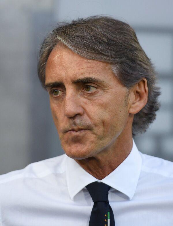 Главный тренер сборной Италии Роберто Манчини