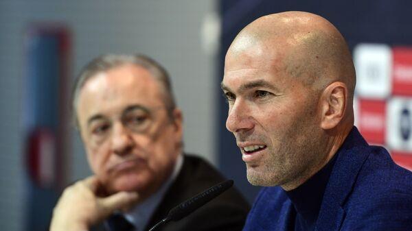 Президент ФК Реал Мадрид Флорентино Перес и Зинедин Зидан (слева направо)