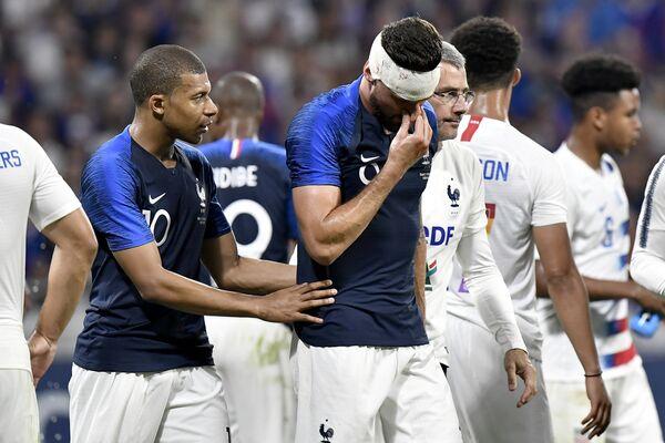 Нападающий сборной Франции по футболу Оливье Жиру